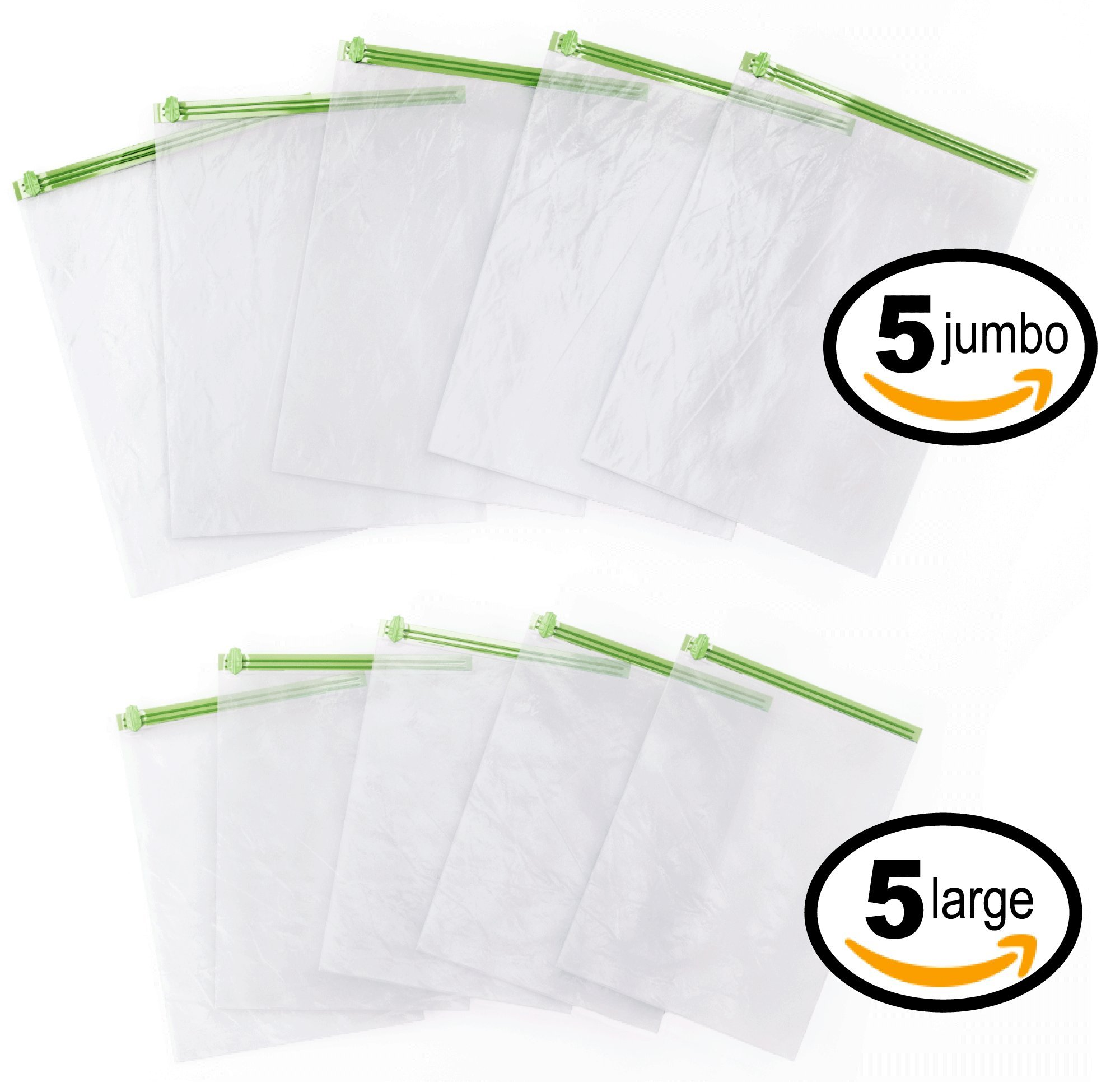Acrodo Space Saver Packing Bags for Travel - 10-pack Rolling Compression Bags for Clothing by Acrodo (Image #3)