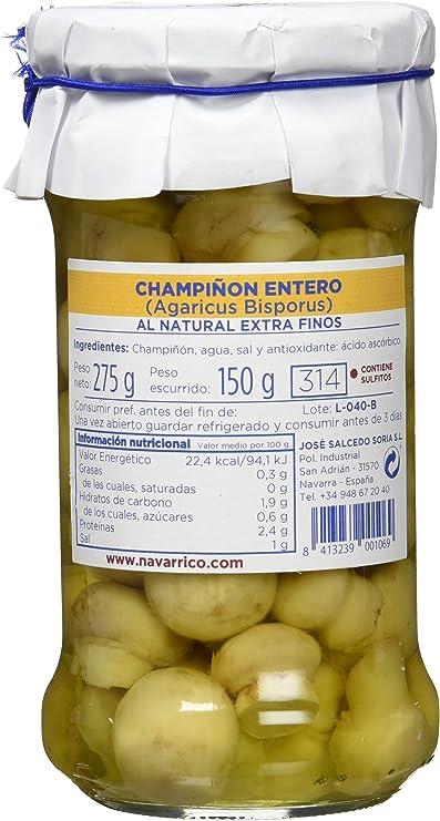 El Navarrico Champiñón Entero al Natural Extra - Paquete de 3 ...