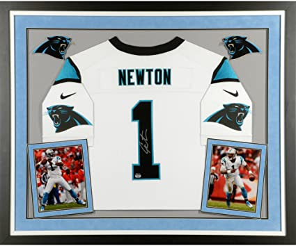 on sale c8874 8d57d Cam Newton Carolina Panthers Deluxe Framed Autographed Nike ...