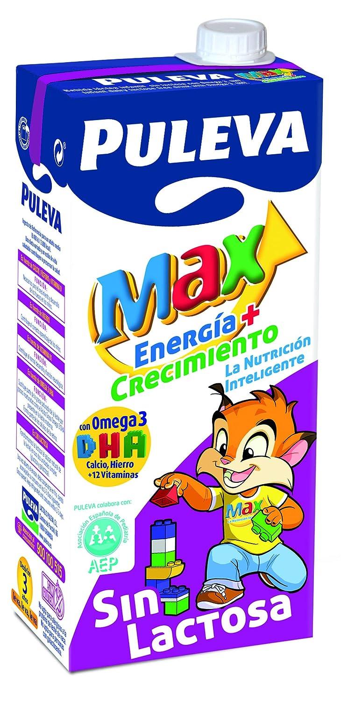 Puleva Leche Max Energía y Crecimiento sin Lactosa - Pack 6 x 1 L - Total: 6 L: Amazon.es: Alimentación y bebidas