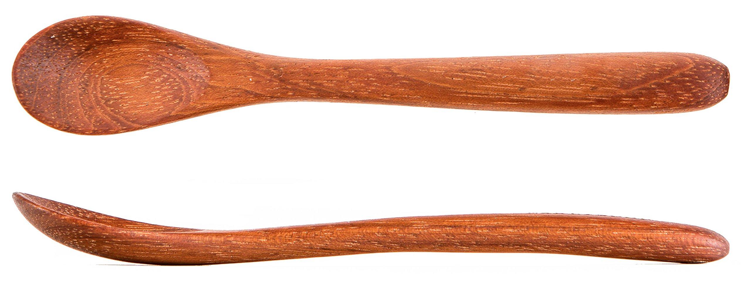 Wood Toddler Spoon, 7 in Handmade Wooden Baby Spoon, Hardwood and Heirloom Quality, A Keepsake Wood Feeding Spoon - Jatoba
