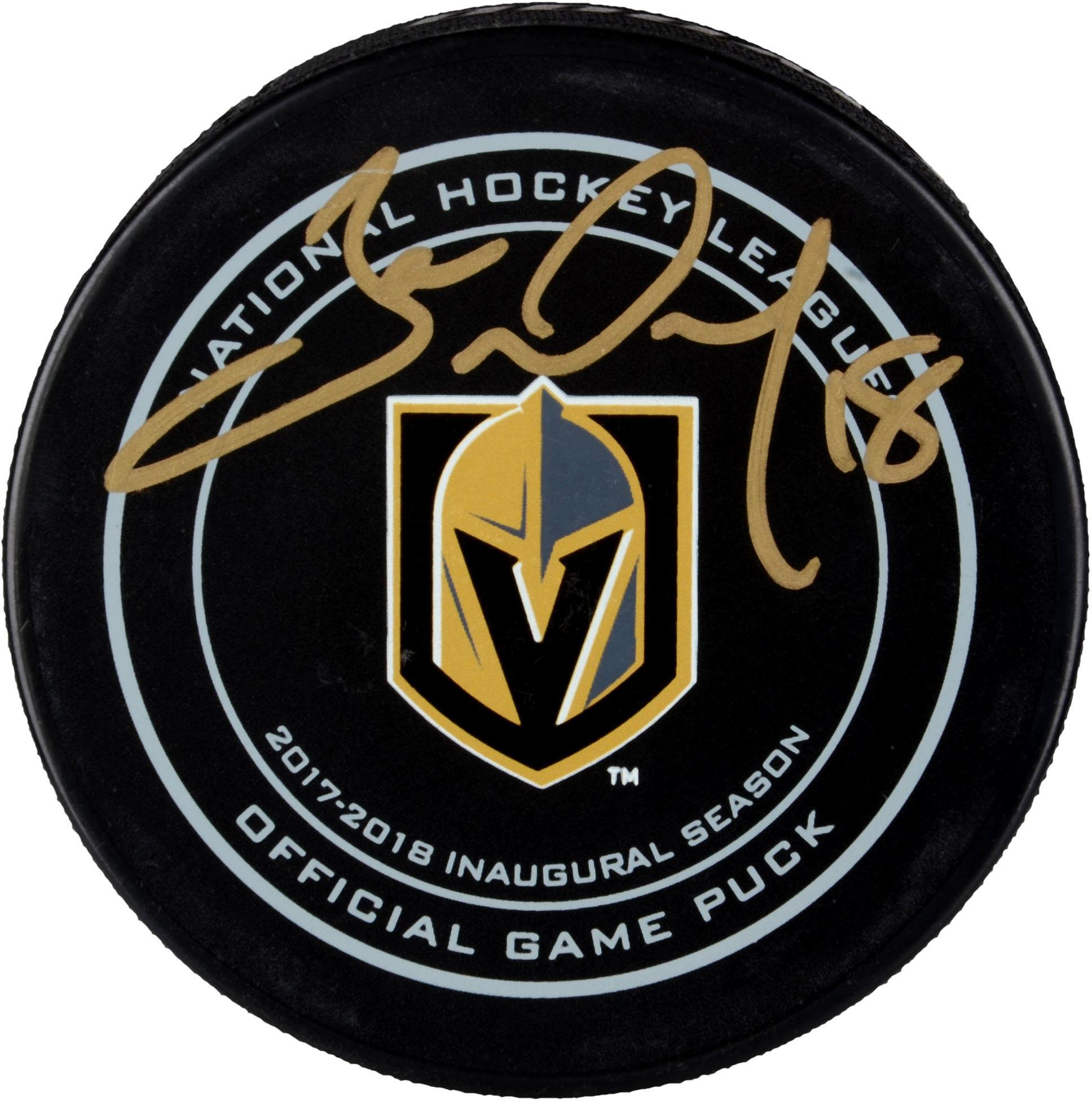 James Neal Vegas Golden Knights Autographed Official Game Puck Fanatics Authentic Certified Autographed NHL Pucks