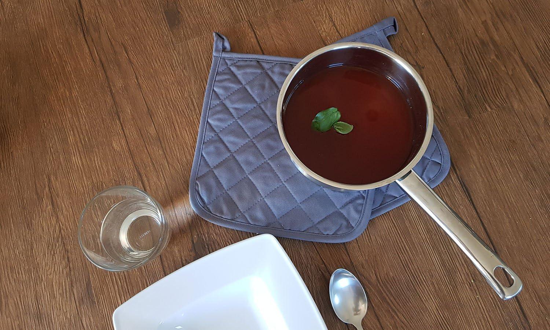 Noir Autres Disponibles en Coton 24x24 cm ZOLLNER Maniques Cuisine