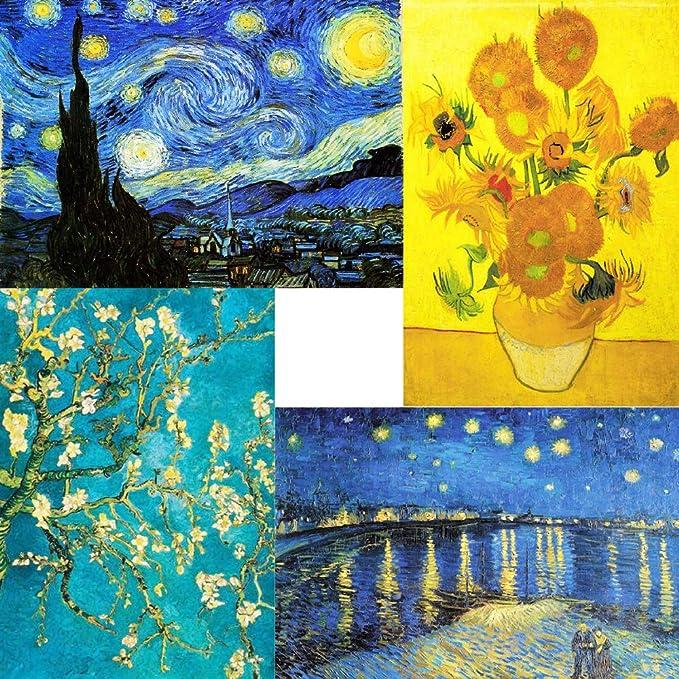 5D Diamond Cross Stitch Van Gogh Night Stars Art Round Full Embroidery 60*75cm
