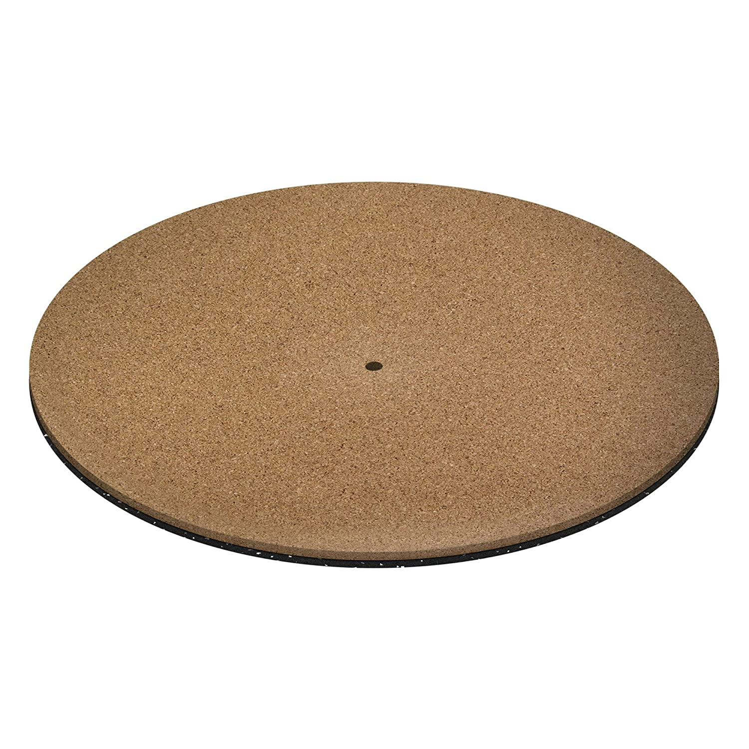 Vinyl Record Cork Slipmat By KAIU – Cork & Urethane Two Layer Turntable Mat For Vinyl Records Provides Better Grip – Premium 12inch Cork Base Improves Sound Quality & Performance - MADE IN THE USA