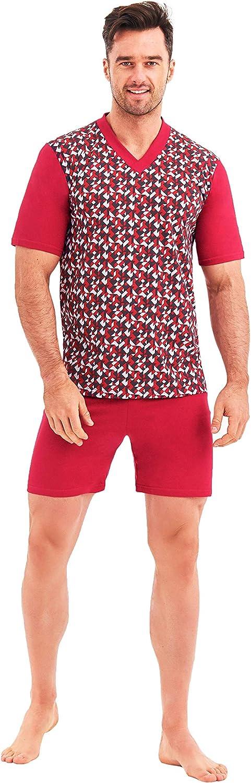 BigSize Pijamas para Hombres Pijamas 100/% Algod/ón Ropa de Noche Tallas Grandes 3XL 4XL 5XL 6XL
