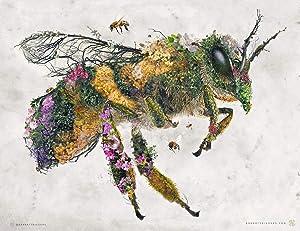 Honey Bee Surreal Animal Nature Fine Art Painting Archival Print