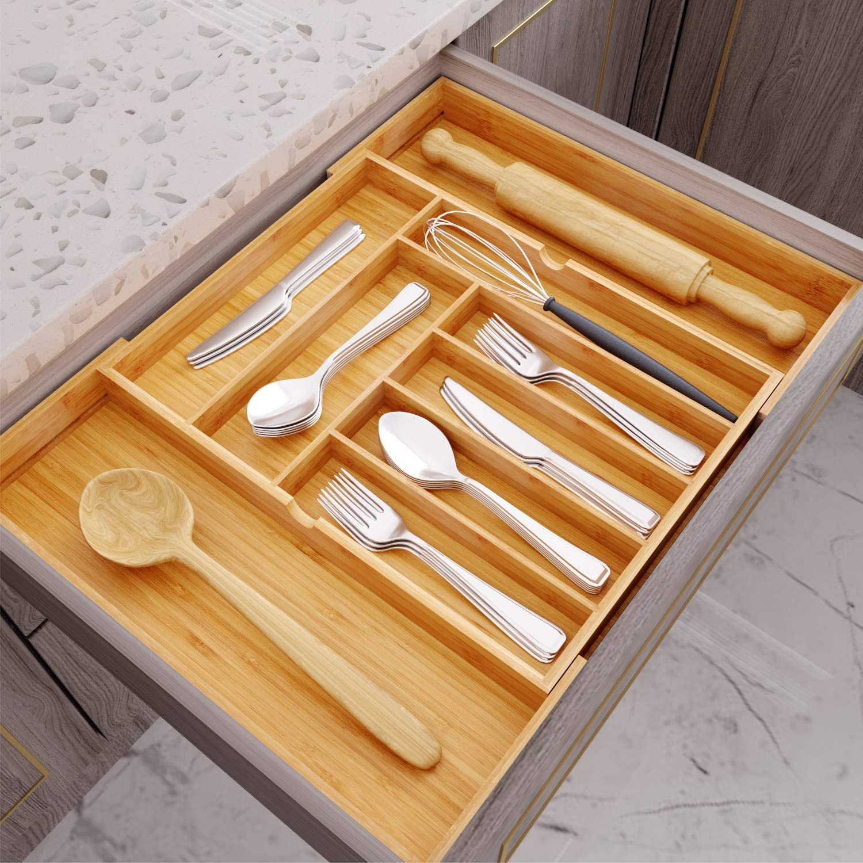 Amazon.com: BAMFOX Organizador de cajones de utensilios ...