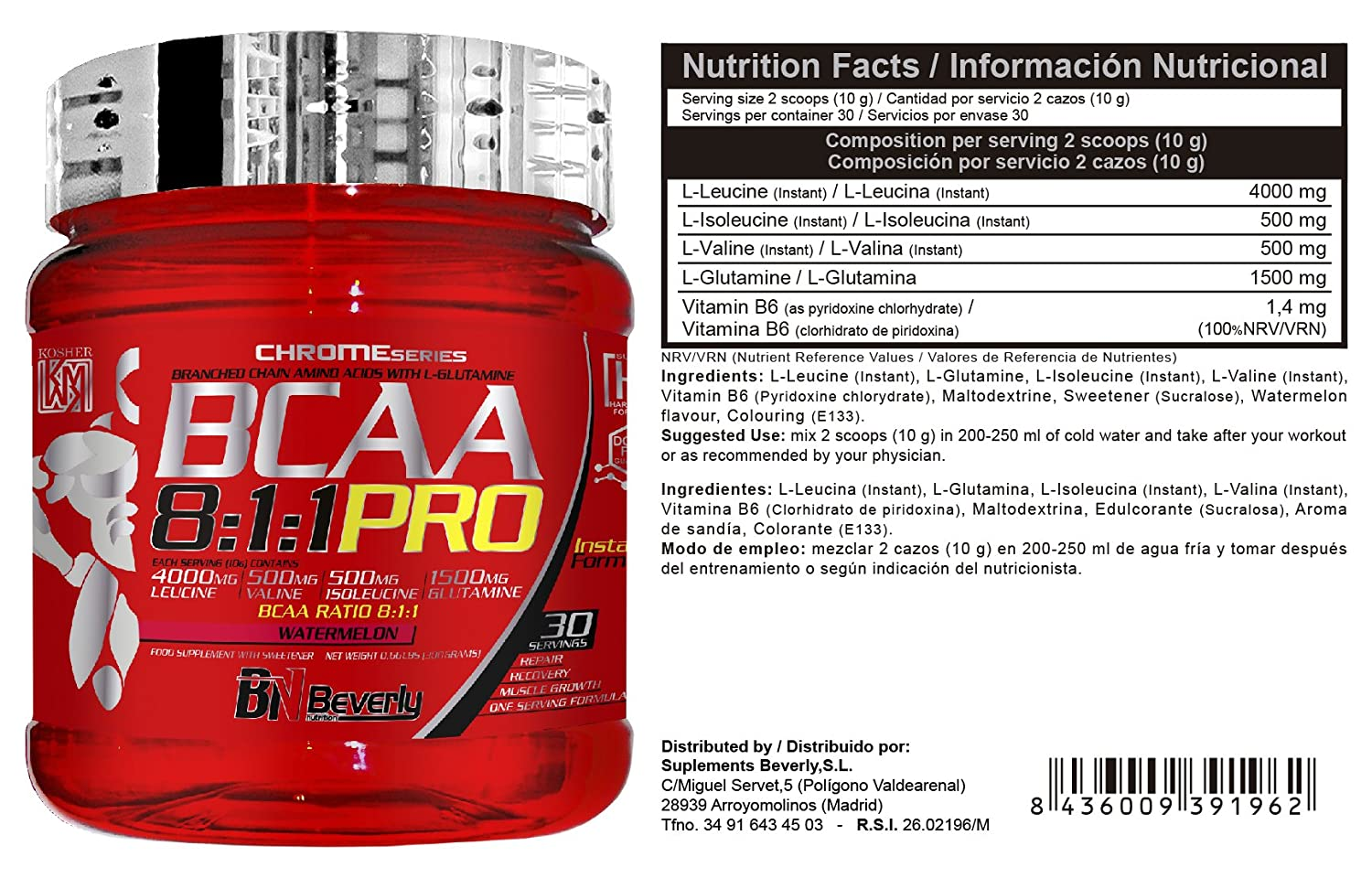 Amazon.com: Beverly Nutrition Exclusive For ABSat40 BCAA 8: 1: 1 Pro - Helps maintain muscle mass - Quickly elevates BCAA levels in the body - improves ...