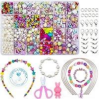 WonderforU kinderen DIY kralen voor sieraden armband kettingen String Making Kit, vriendschap armbanden Art Craft Kit…
