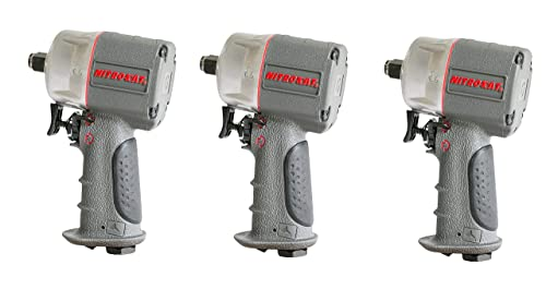 AIRCAT 1056-XL Kevlar Composite Compact Impact Wrench, 1 2 , Silver Grey 3 Pack