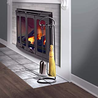 product image for Enclume Handcrafted Fireplace Tool Set Hammered Steel