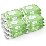Nice 'N Clean Scented Baby Wipes, Suitable for Sensitive Skin on Hands, Face, Bottom, Made w/Plant-Based Fibers, Green Tea &