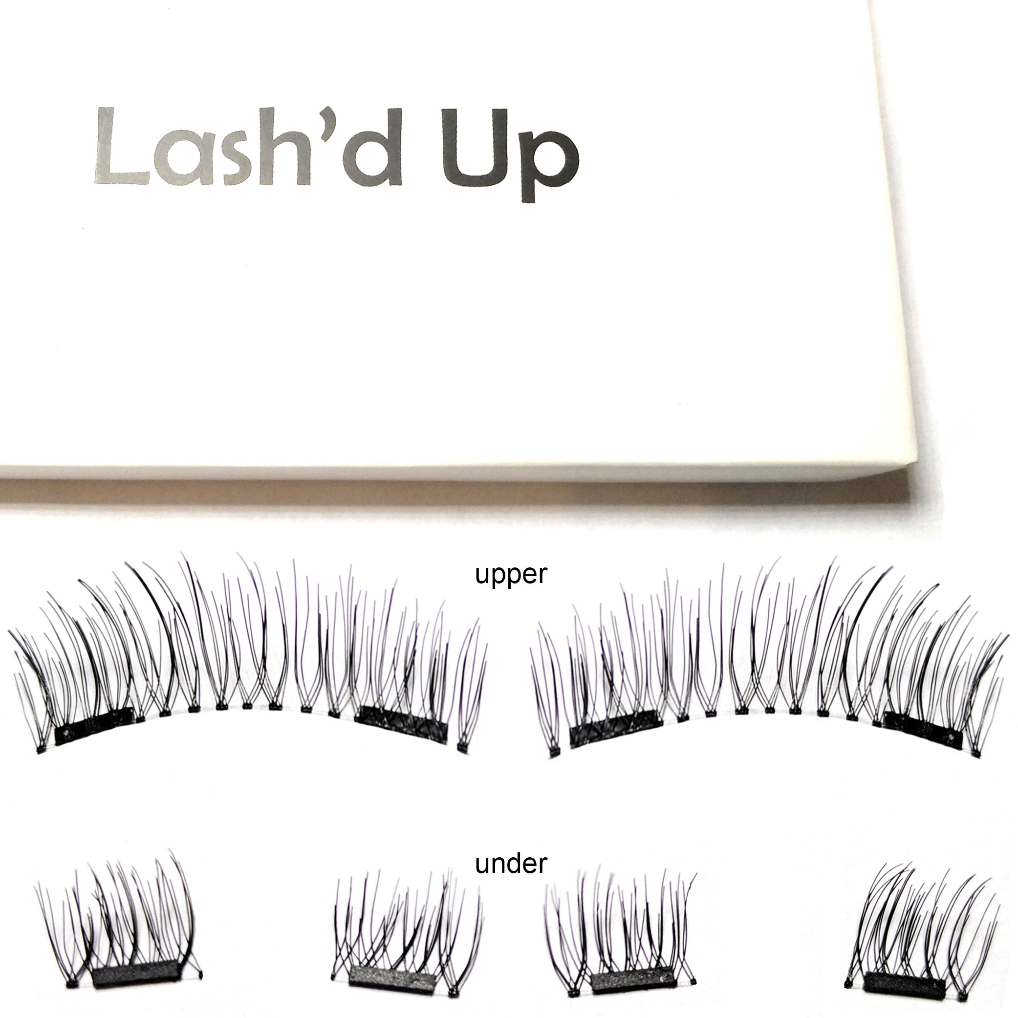 Lash'd Up Magnetic Eyelashes Full Eyes Natural Look Grade A+ Silk [No Glue] Child Cancer Partner Better Than 3 Magnets Reusable False Lashes | i woke up this way