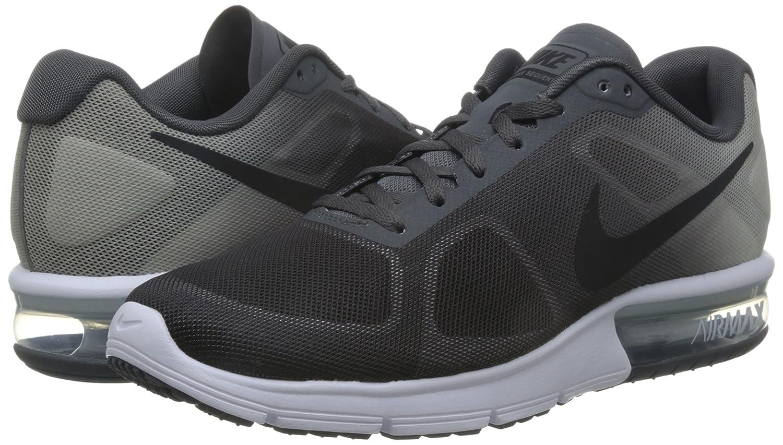 NIKE Men's Air Max Sequent 2 Running Shoe B00V3RE460 7 D(M) US|Dark Grey/Pure Platinum/Metallic Platinum/Black