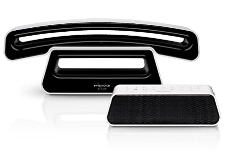 Swissvoice ePure 2 TAM - Teléfono fijo digital, negro (importado)