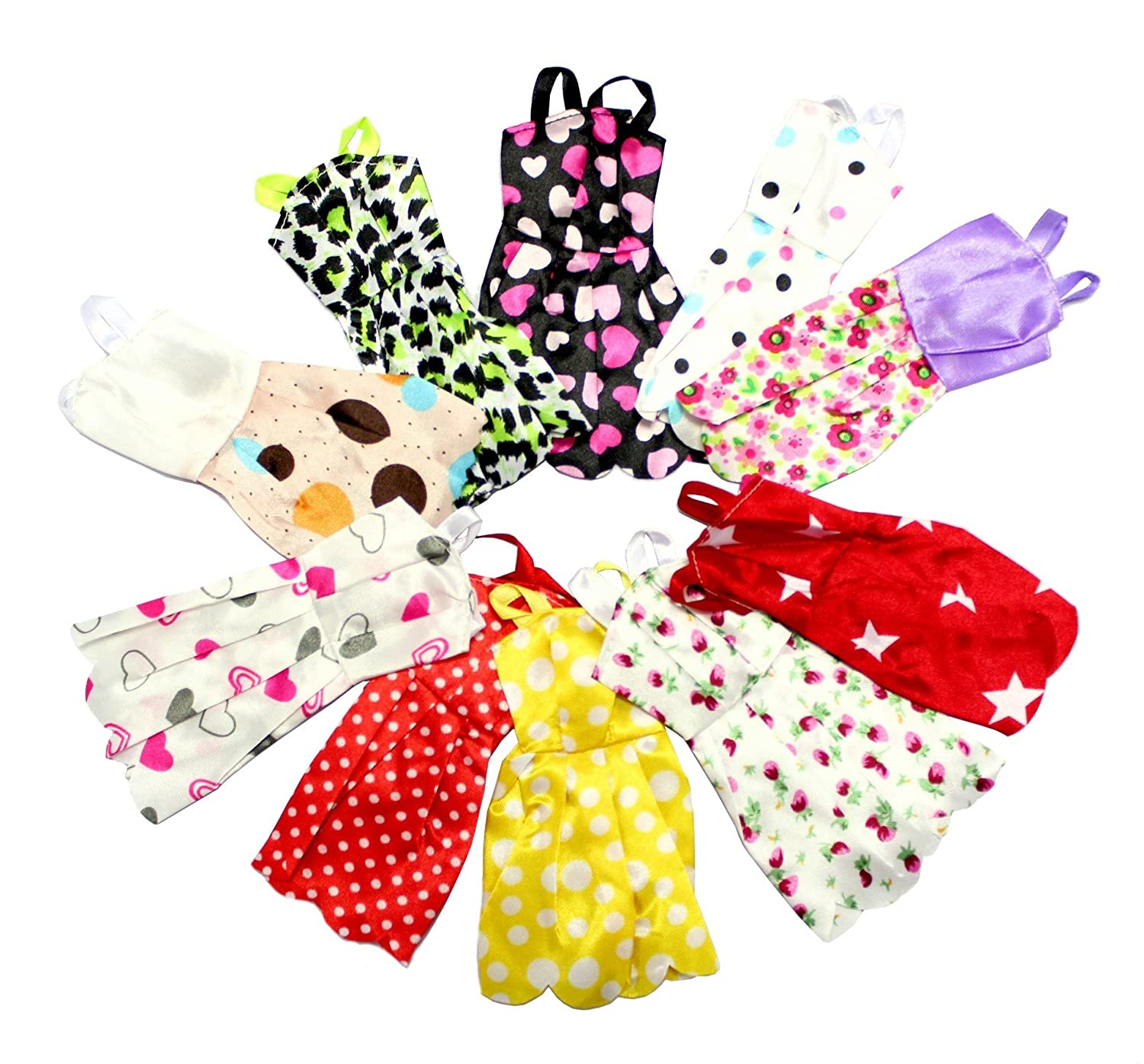 Amazon.es: 10 X Vestidos Pretty Doll para muñeca. Barbie compatible ...
