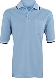 product image for Adams USA Short Sleeve Baseball Umpire Shirt - Sized for Chest Protector, POWDER BLUE
