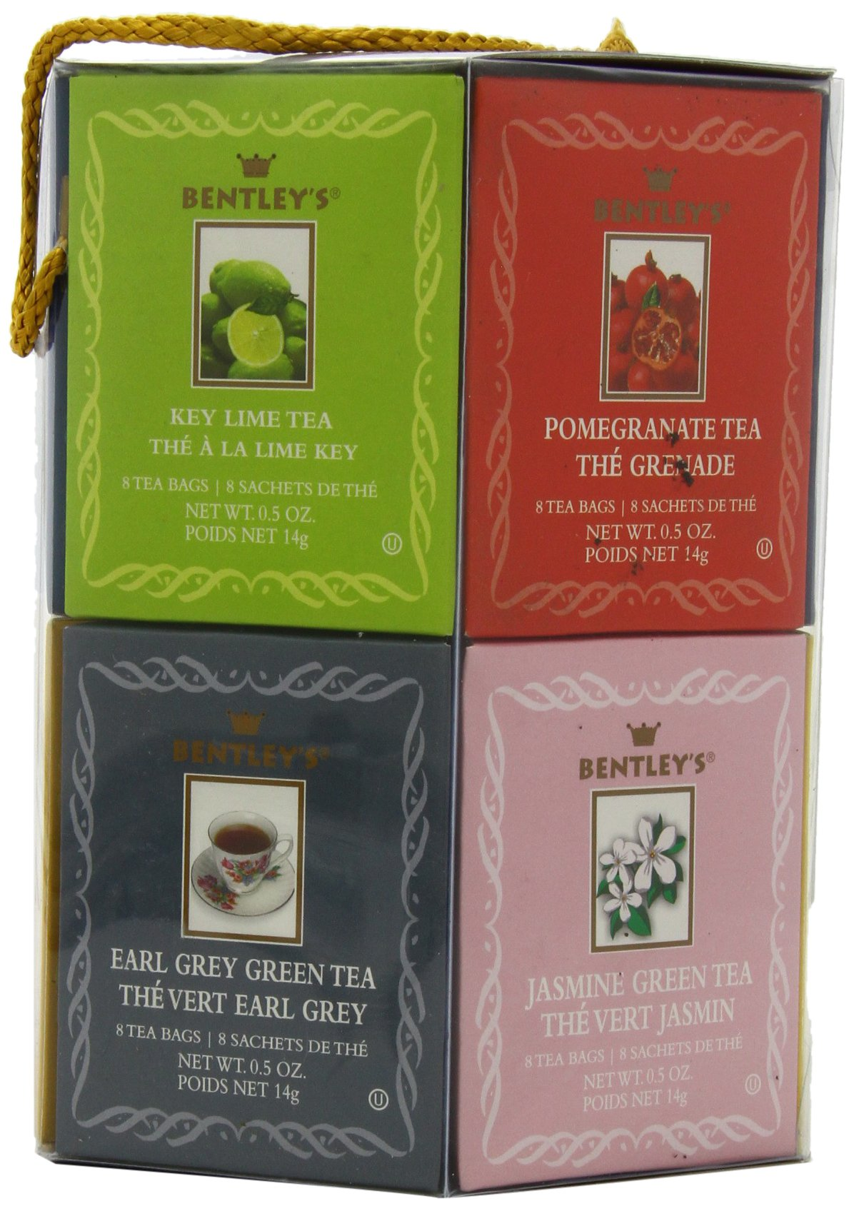 Bentley's Royal Classic Collection Assorted Flavor Gift Pack, 96 Tea Bags (Pack of 2), Includes 8 Bags Each of a Variety of Black and Green Tea Flavors by Bentley's (Image #3)