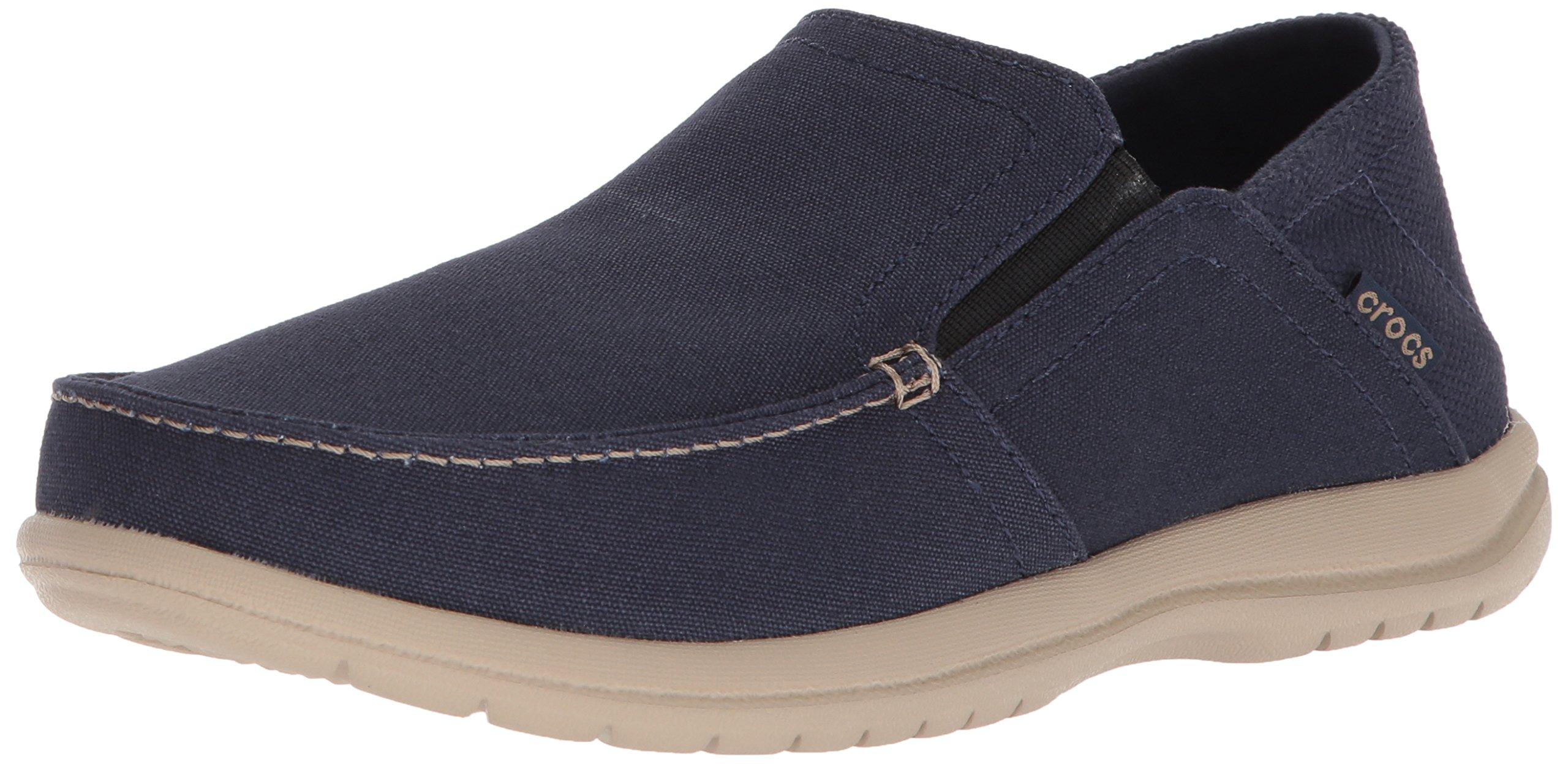 Crocs Men's Santa Cruz Convertible Slip-on Loafer, Navy/Cobblestone, 10 M US