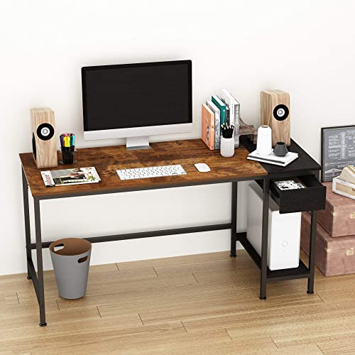 HOMEYFINE Home Office Computer Desk,Study Writing Desk