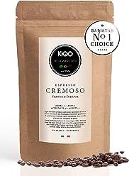 KIQO Cremoso Espresso aus Italien | in schonenden Kleinstchargen geröstet | säurearm und bekömmlich | 15% Arabica & 85% Robusta Bohnen (250 Gramm - ganze Bohnen)