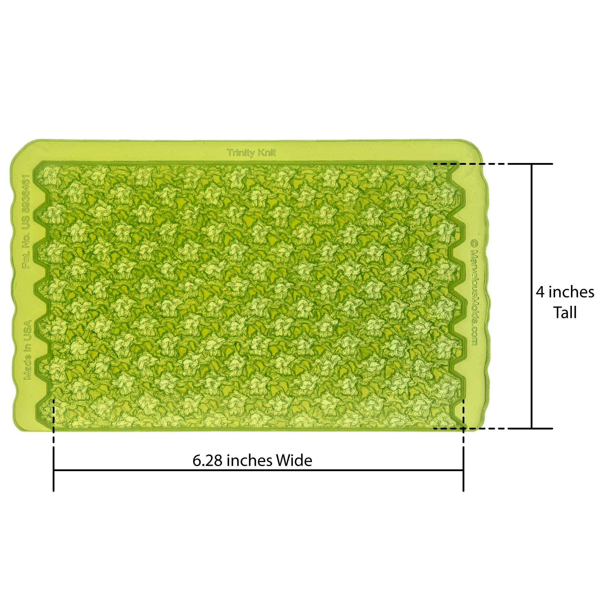 Marvelous Molds Trinity Knit Simpress Silicone Mold   Cake Decorating   Fondant and Gumpaste Icing by Marvelous Molds (Image #2)