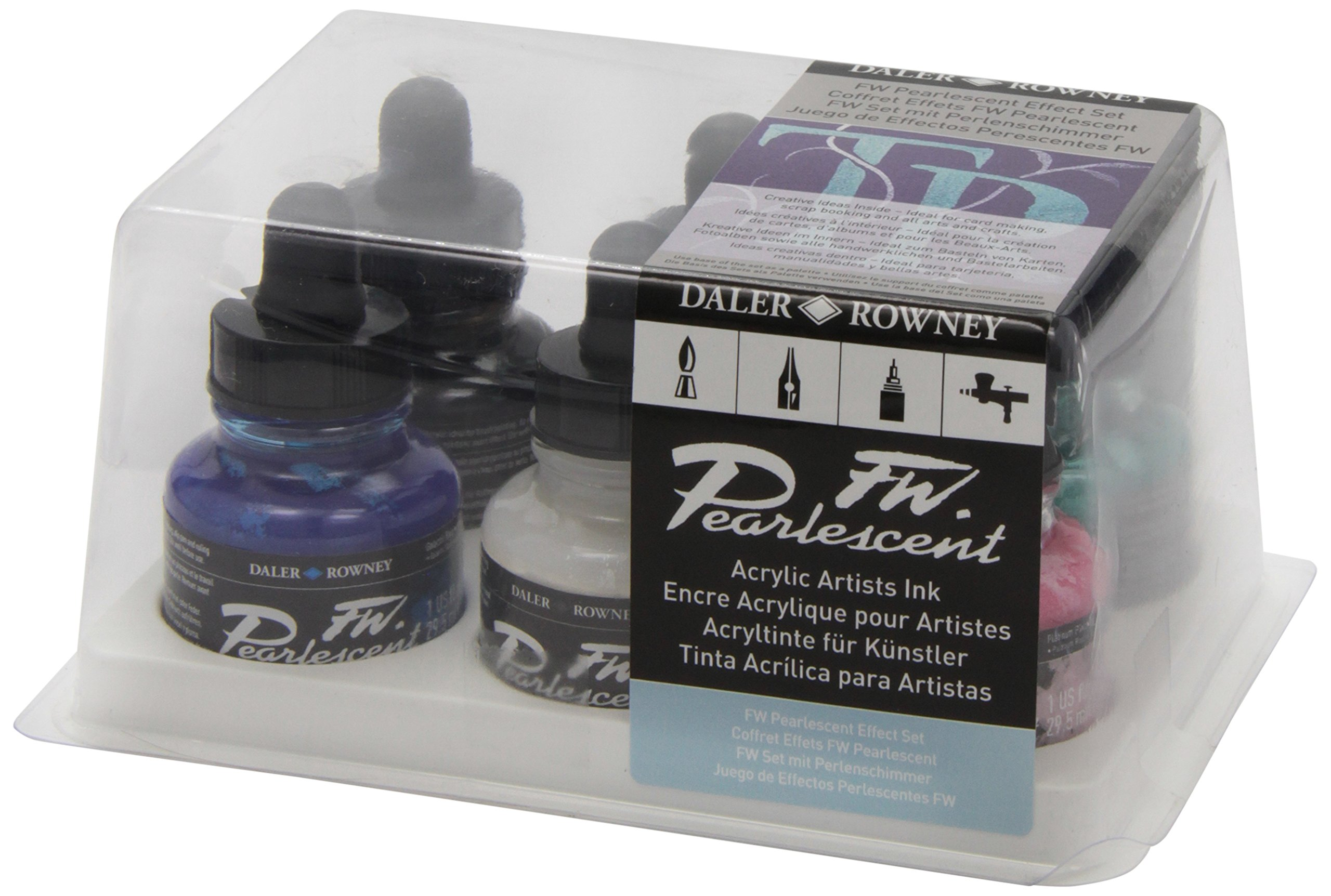 Daler-Rowney FW Artists' Ink Sets Pearlescent Effects set of 6
