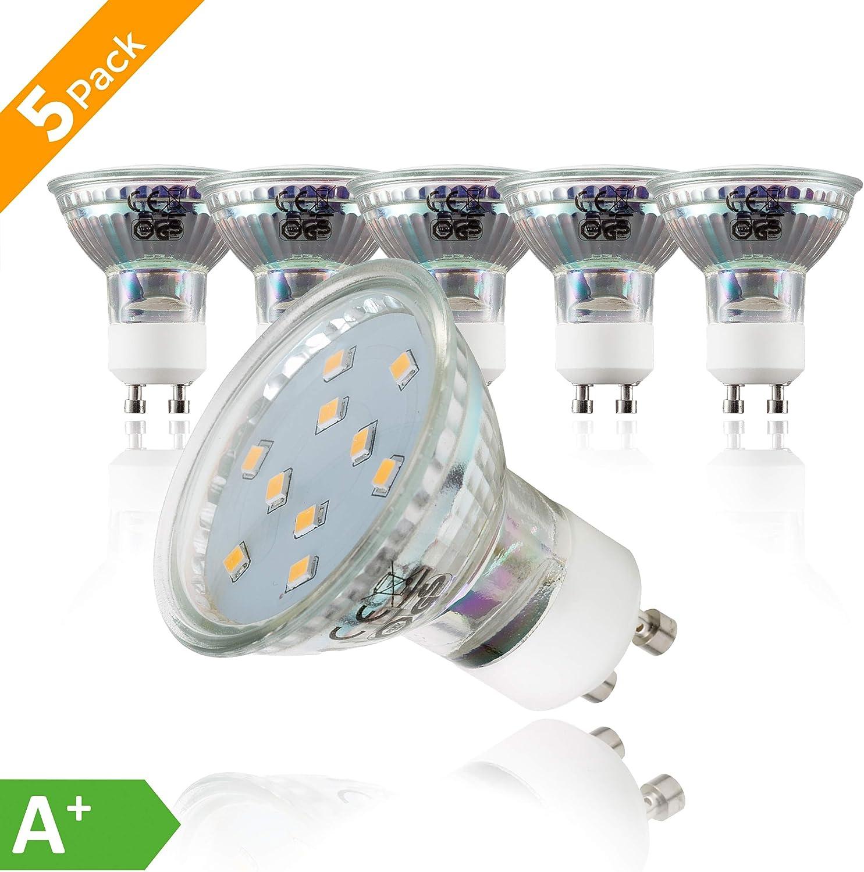Philips LED Spot Light  Bulb A GU10 White 3000 Kelvin White 35 Watt Multipack
