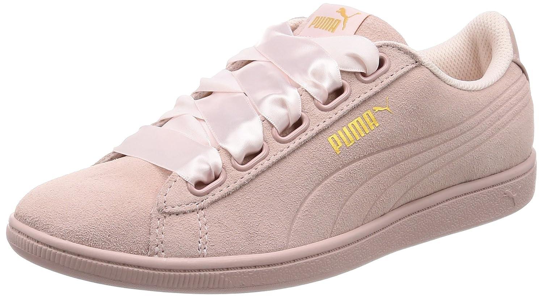 Puma Vikky Ribbon S Sneaker Women Kids Trainers 366416 03 Pearl 36 EU Pearl-Pearl