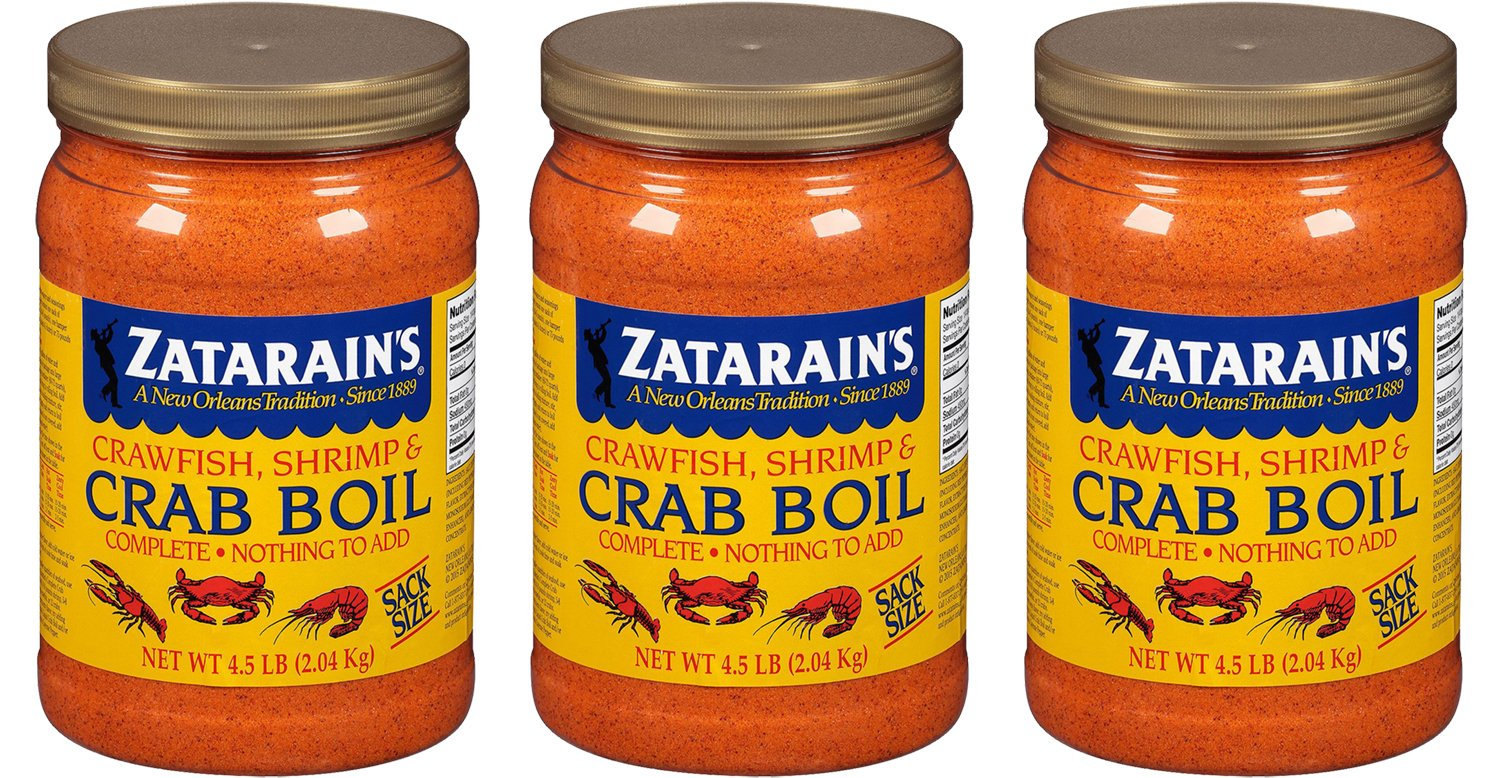 Zatarains Pre-Seasoned Crab and Shrimp Boil 72 Ounce (Pack of 3 - Total 216 Ounce)