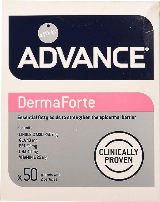 ADVANCE DermaForte - Suplemento Nutricional Para Perros Con Problemas Atópicos - Caja De 50 Sobres Con 2 Partículas De 5 g - Total 500 g