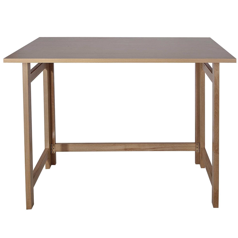 Mueblear 7015 Klapptisch aus Nicht lackiertem Holz, 100 x 60 x 75 cm