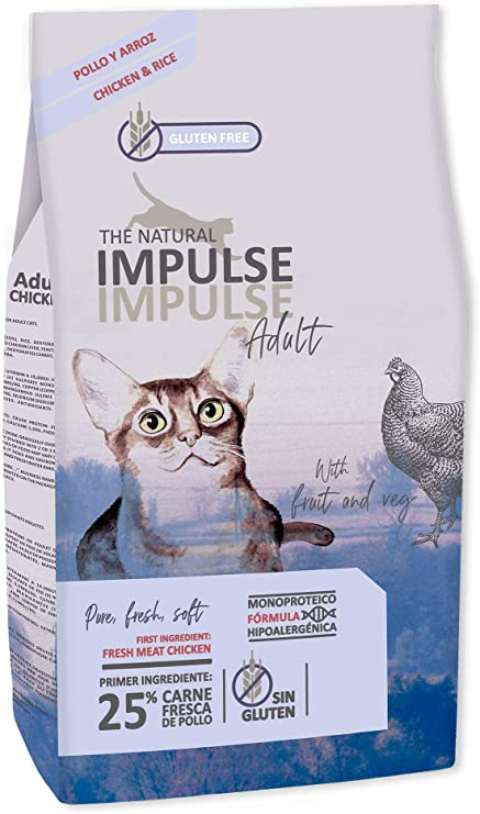 IMPULSE Pienso para Gatos Adultos Natural Cat Adult 8 Kg: Amazon.es: Productos para mascotas