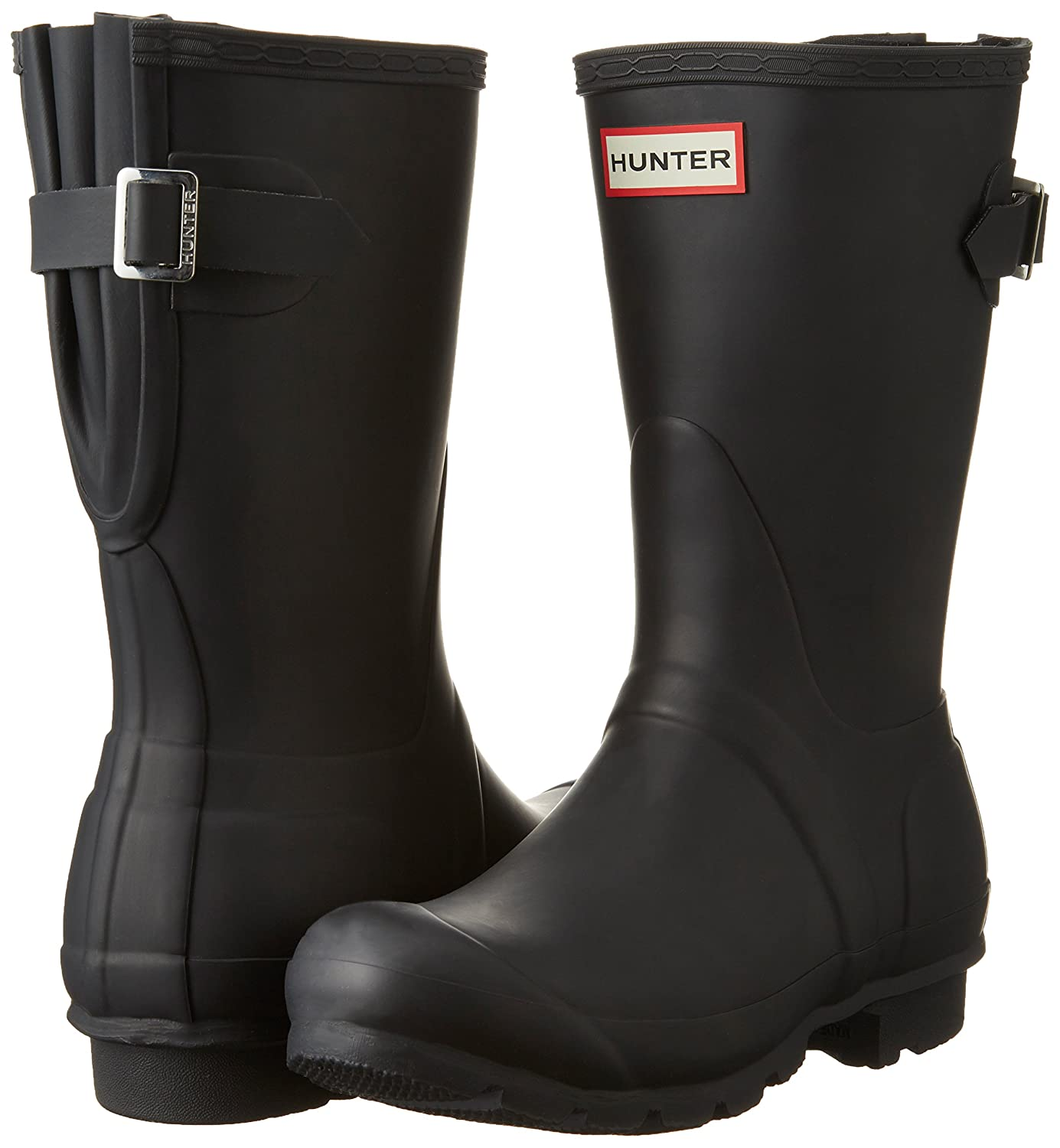 Hunter Women's Original Short Back Adjustable B(M) Rain Boot B00NU70DL6 10 B(M) Adjustable US|Black 27f90f