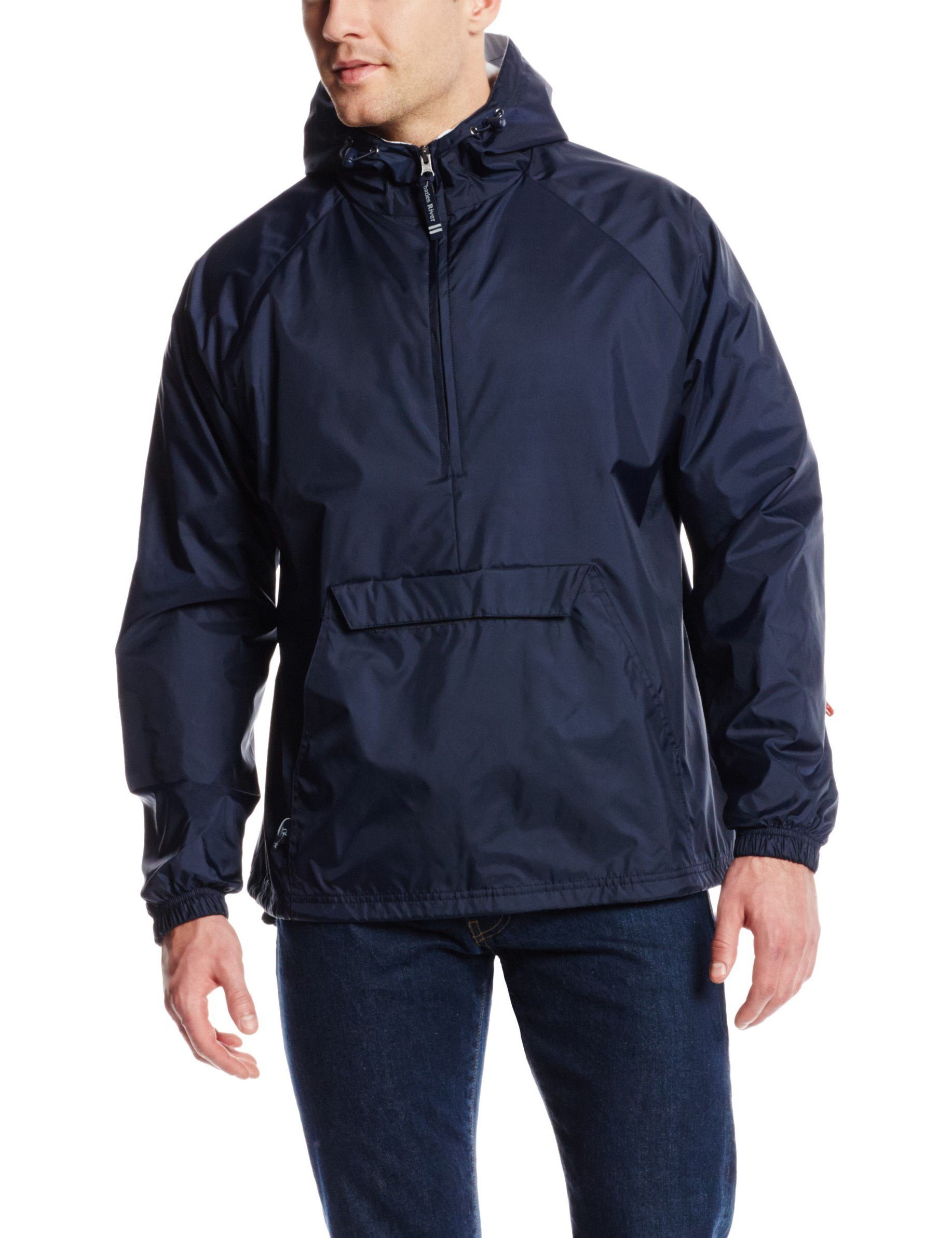 Charles River Apparel Men's Classic Solid Windbreaker Pullover, Navy, X-Large by Charles River Apparel
