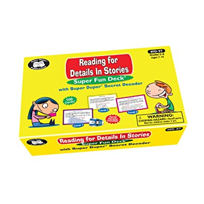 Super Duper Publications Reading for Details in Stories Fun Deck Flash Cards with Secret Decoder Educational Learning Resource for Children: Toys & Games [5Bkhe2000370]