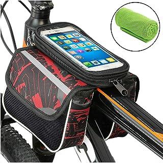Soporte movil moto con cargador carga rapida 2.1A funda impermeable universal valida telefonos hasta 6.5 sujecion irrompible con enganche extra al manillar soporte moto movil soporte movil para moto