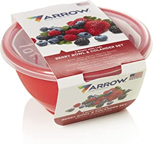 Arrow Home Products Berry Bowl and Colander Set, Assorted