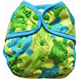 One Size Cloth Diaper Cover Snap With Double Gusset (Turtle)
