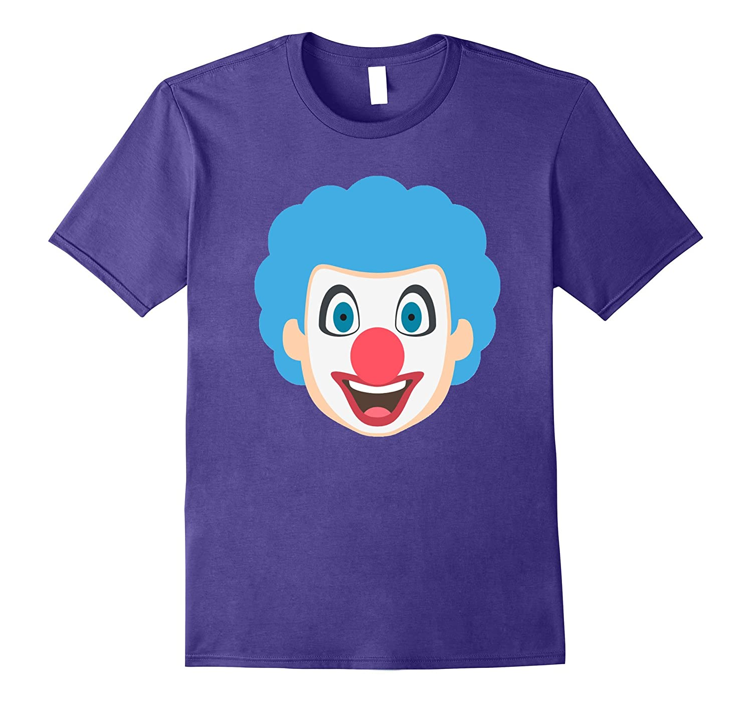 Clown Emoji T-Shirt Red Nose Painted Face Happy Smile-Art