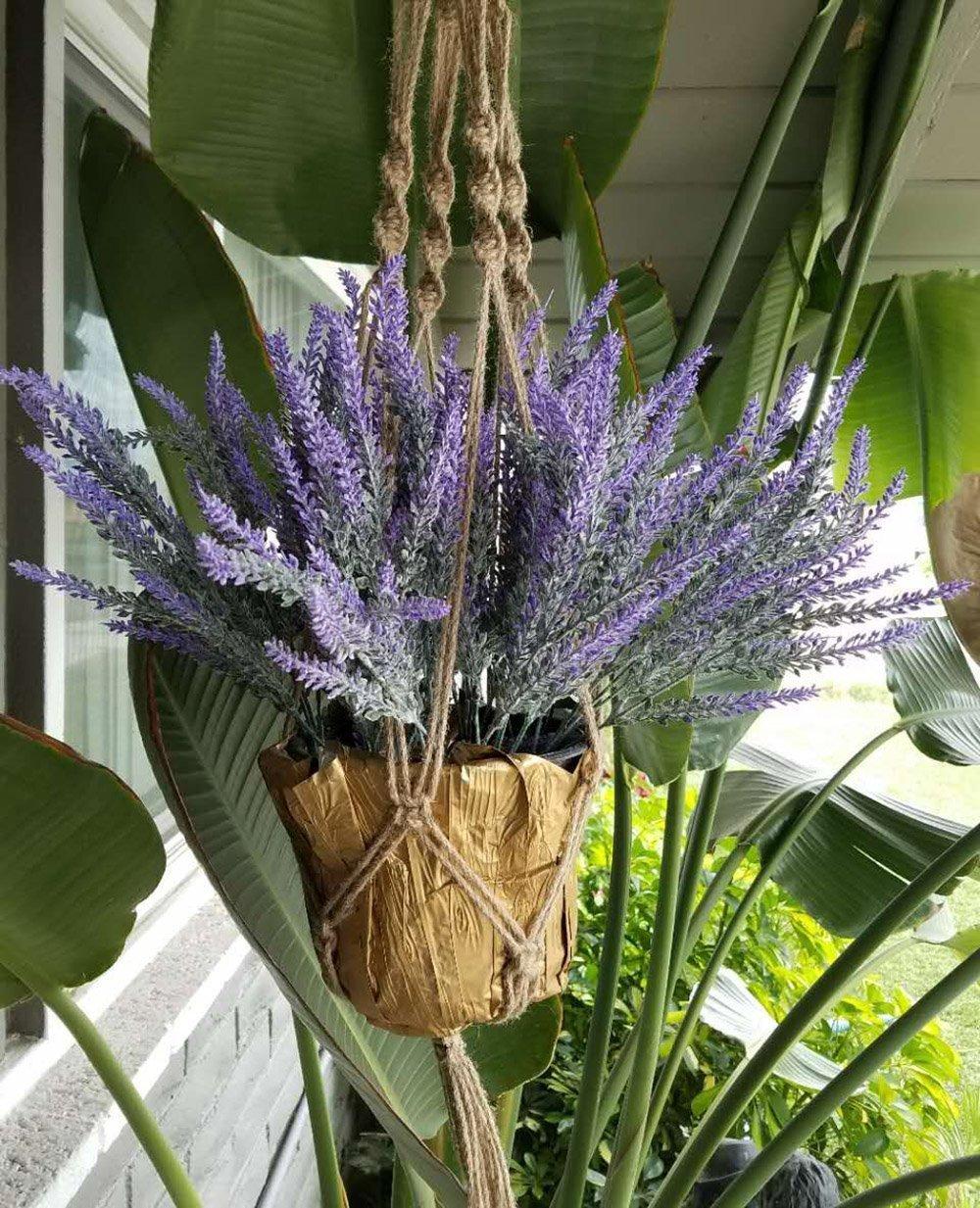 P-flowe-Plastic-Flower-Artificial-Flowers-Flocked-Lavender-Bouquet-Romantic-Fake-Lavender-Bunch-Simulation-Plant-Flower-in-Purple-Artificial-Plant-Home-Wedding-Garden-Decor-4-Pcs-Purple