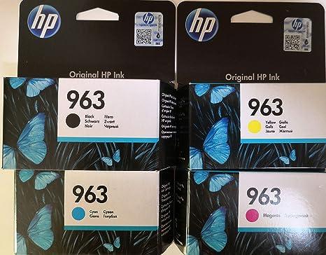 Hewlett-Packard 963 - Juego de 4 Cartuchos de Tinta ...