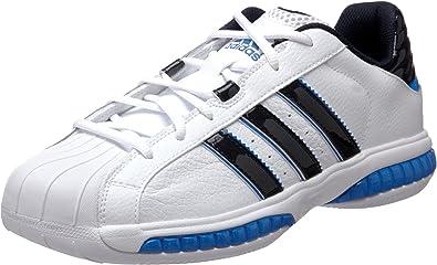 Citar dominio pedir  Amazon.com | adidas Men's Superstar 3G Speed Basketball Shoe, Running  White/Dark Navy/Fresh Blue, 6.5 M US | Road Running