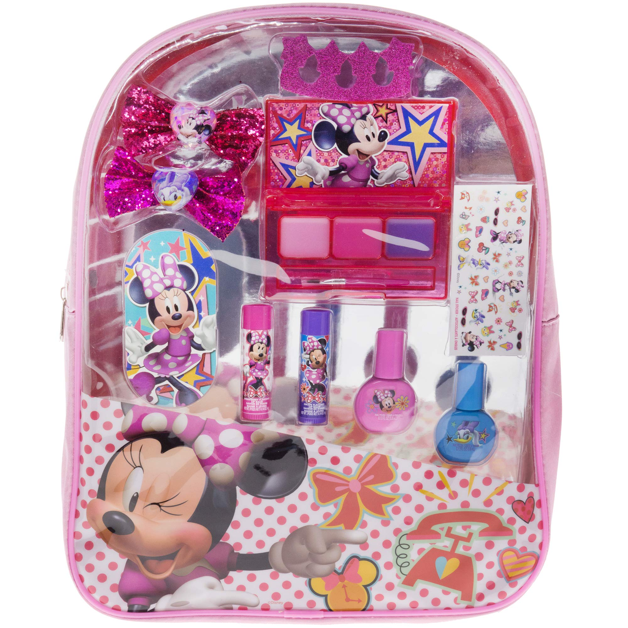Disney MB0770SA Townley Girl Minnie Mouse Backpack Cosmetic Set, Pink by Disney