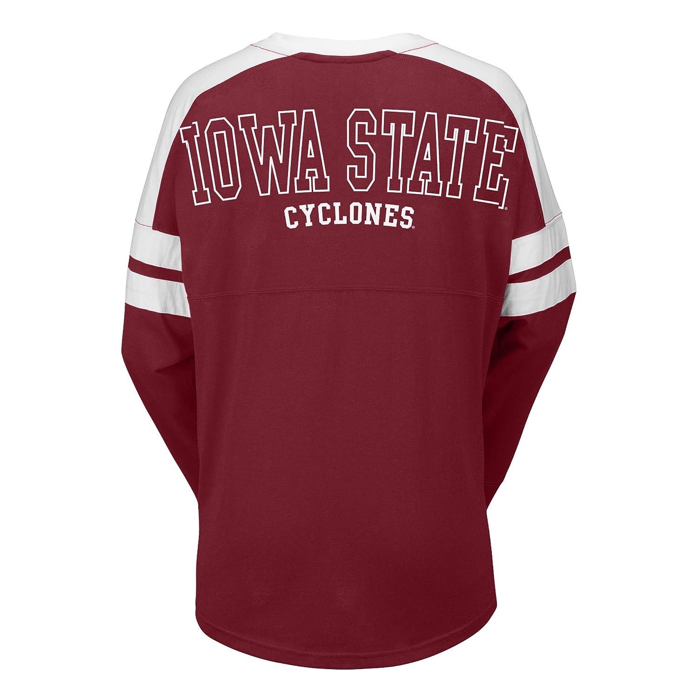 J America NCAA Iowa State Cyclones Female Gotta Have It Cheer Tee Small Garnet//White
