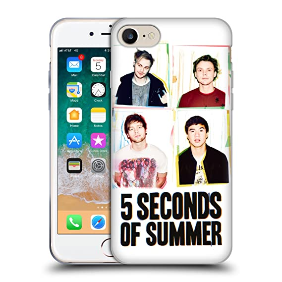 best service 04d77 ed947 Official 5 Seconds of Summer Polaroid Posters Soft Gel Case for iPhone 7 /  iPhone 8