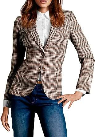 FACE N FACE Women's Cotton Long Sleeve Slim Short Blazer Suit Jacket