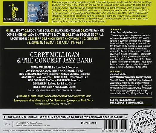 Gerry Mulligan The Concert Jazz Band At The Village Vanguard Amazon Com Music