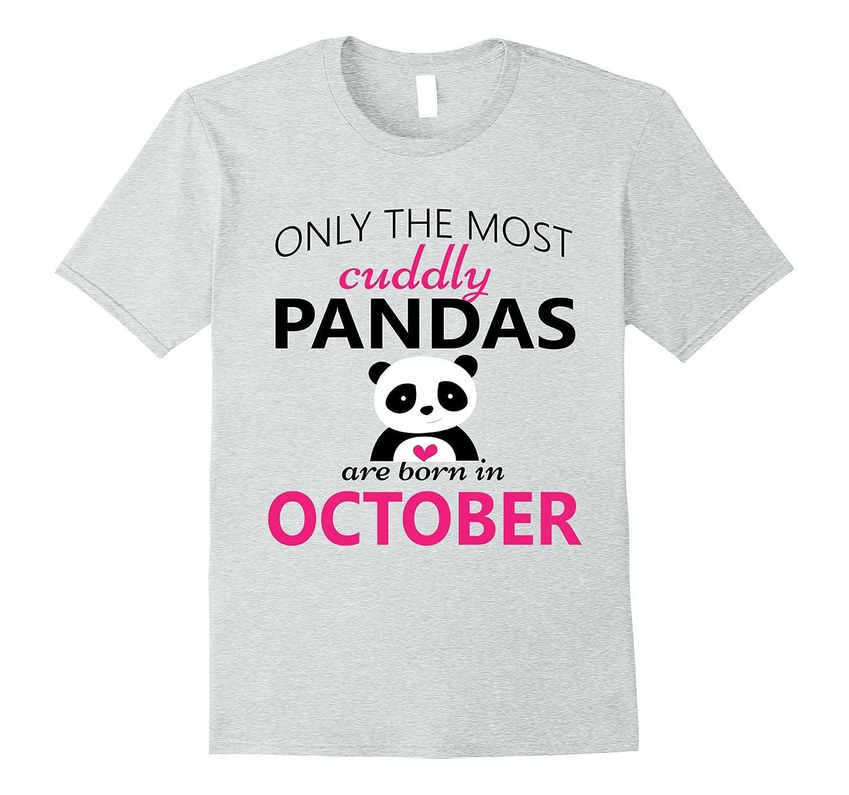 Panda October Birthday T Shirt Girl Boy Son Daughter Adults FL